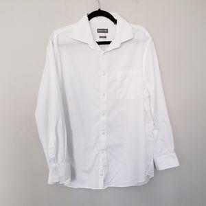Regular fit white button down dress Shirt cotton